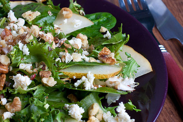 Blueberry Pear Spinach Salad
