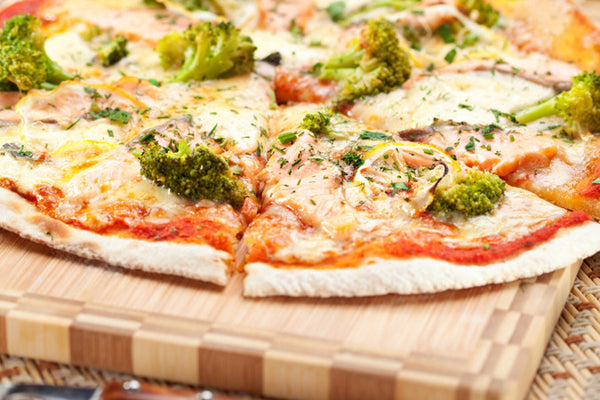 Caramelized Onion, Goat Cheese & Broccoli Pizza