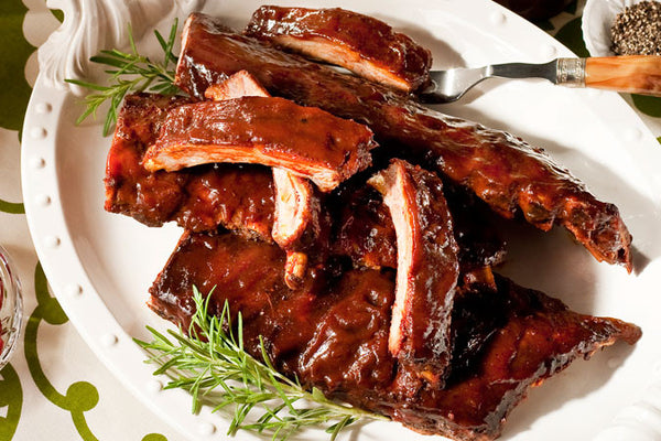 Cherry Pomegranate Glazed Ribs