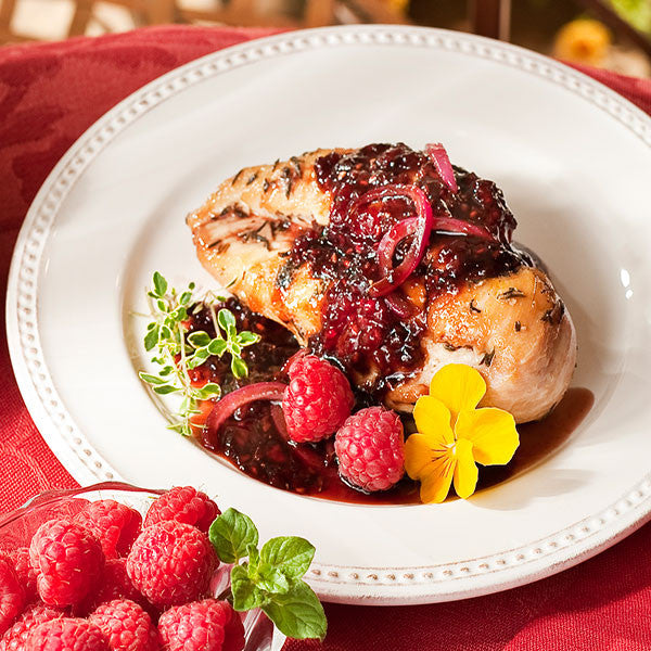 Chicken with Raspberry Pineapple Sauce