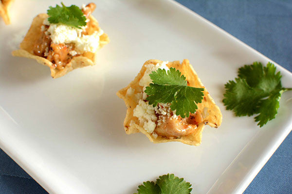 Chili Lime Chicken Mini Tostadas