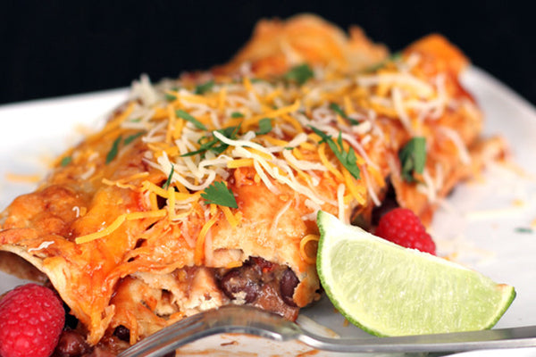 Chipotle Raspberry Chicken Enchiladas