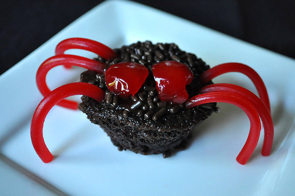 Chocolate Cherry Brownie Spiders