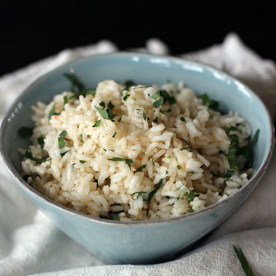 Hatch Chile Pepper Cheesy Rice