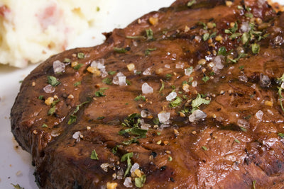 Flat Iron Steak with Red Wine Fig Glaze