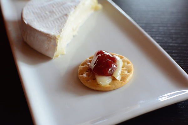 Hot Cherry Brie Bites