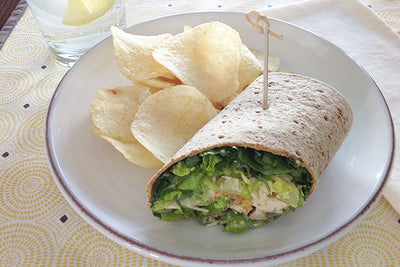 Dirty Martini Chicken Wraps