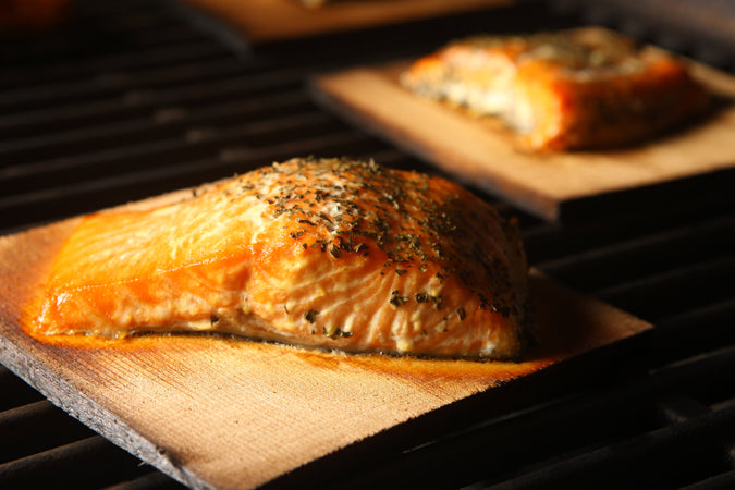 Fig Glazed Cedar Plank Salmon