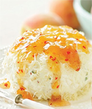 Hot Pepper Peach Cheese Ball
