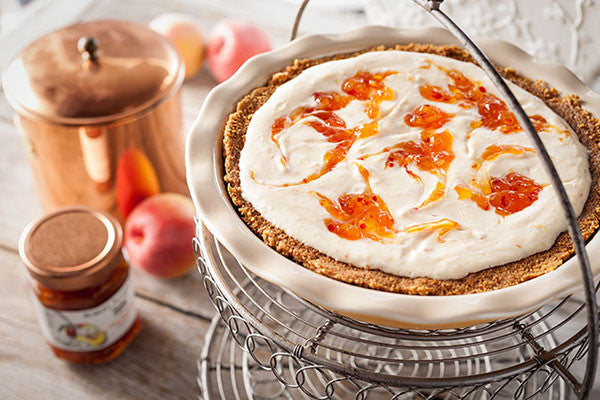 Hot Pepper Peach Cheesecake