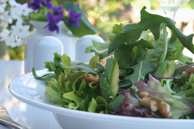 Mixed Greens with Toasted Walnuts and Pear Vinaigrette