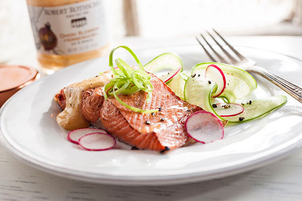 Onion Blossom Grilled Salmon