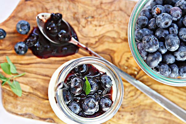 Blueberry Balsamic Panna Cotta