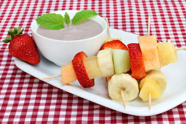 Rhubarb Strawberry Fruit Dip