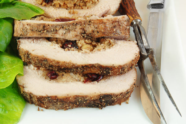 Raspberry Apricot Stuffed Pork Chops