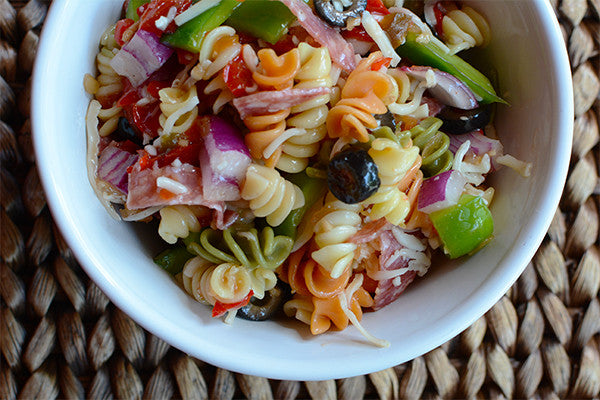 Red Pepper & Onion Pasta Salad