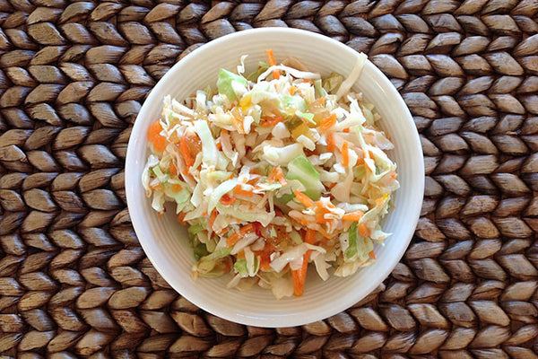 Roasted Pineapple & Habanero Coleslaw