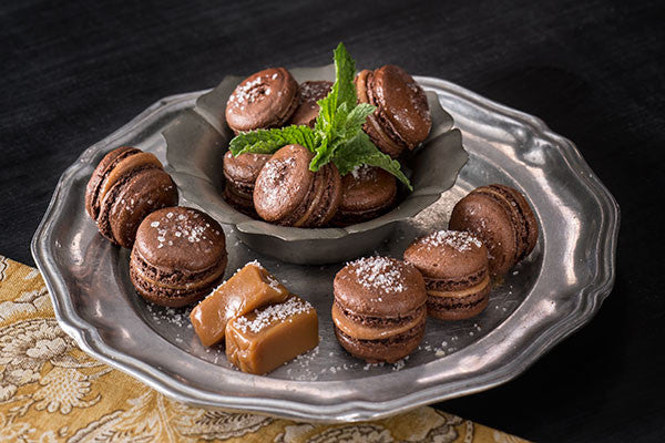 Chocolate Caramel Sea Salt Macaroons