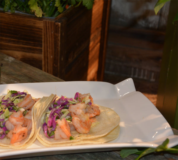 Shrimp Tacos with Citrus Jalapeño Slaw