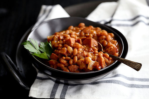 Slow Cooker Smoky Baked Beans
