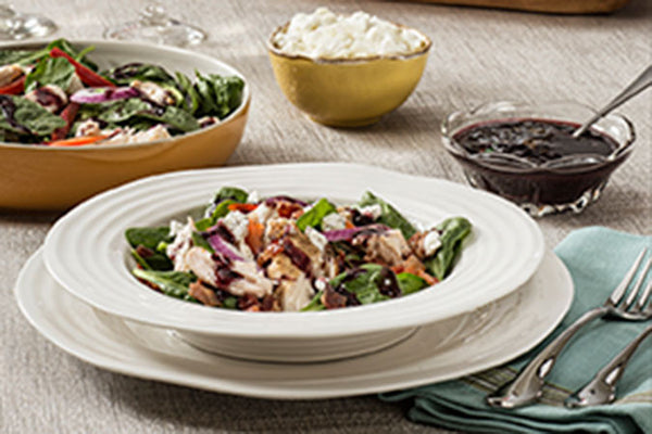 Blueberry Chicken Salad with Blueberry Lemon Ginger Dressing