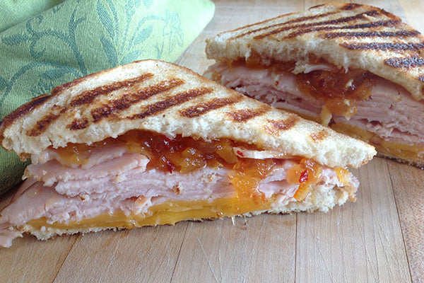 Turkey Gouda Melt with Hot Pepper Peach Preserves