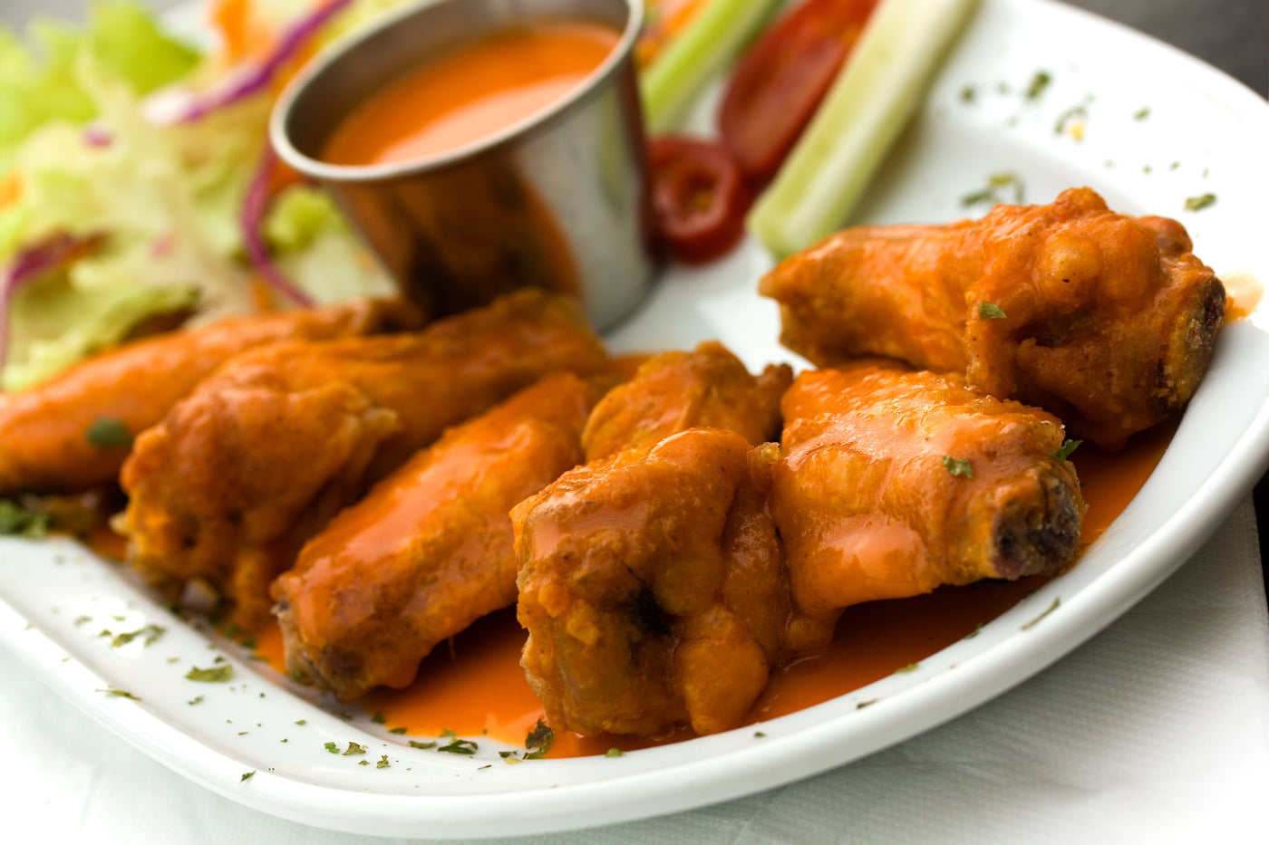 Hot Buffalo Blue Chicken Wings