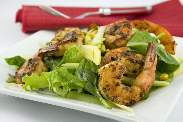 Grilled Shrimp and Lemon Wasabi Salad