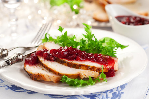 Stuffed Turkey Cutlets with Cranberry Sauce
