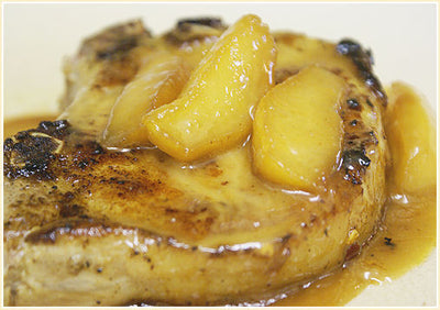 Pork Chops with Glazed Apple and Onion