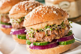 Greek Lamb & Hummus Sliders