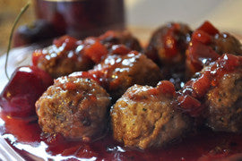 Cherry Pomegranate Habanero Meatballs