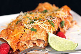 Chili Lime Chicken Enchiladas