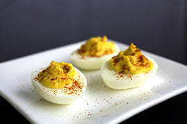Ginger Wasabi Deviled Eggs