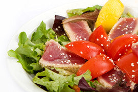 Yellowfin Spinach Salad with Wasabi Dressing