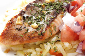 Seared Salmon with Quick & Easy Slaw