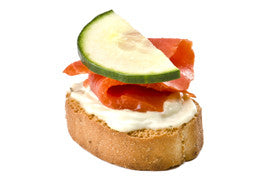 Baguette with Smoked Salmon Spread