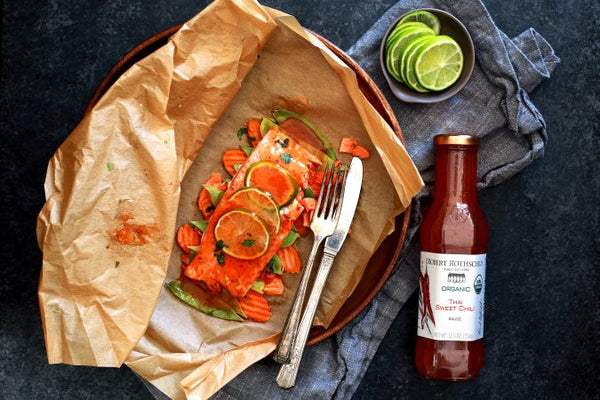 Thai Sweet Chili Glazed Salmon in Parchment