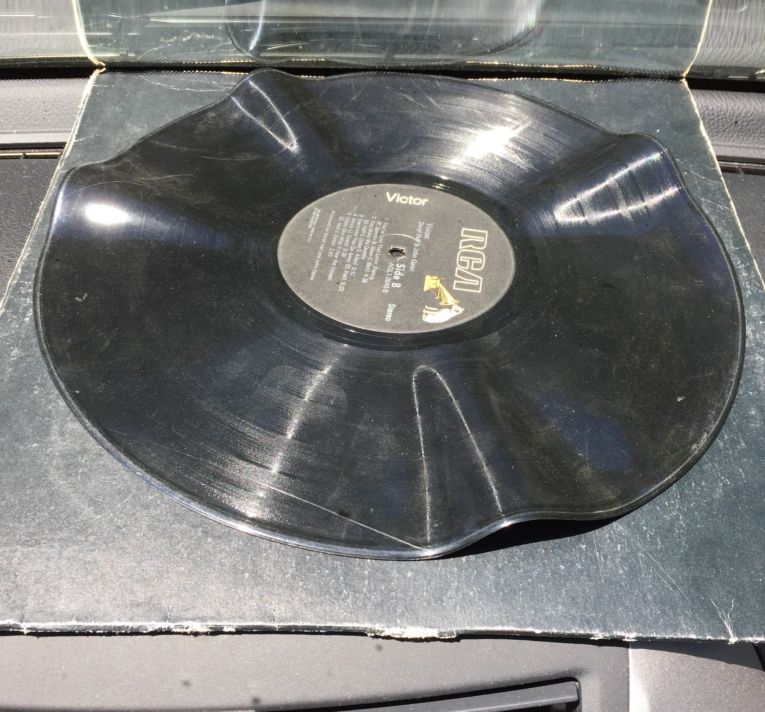 Vinyl Record Warped After 20 Minutes in Sun