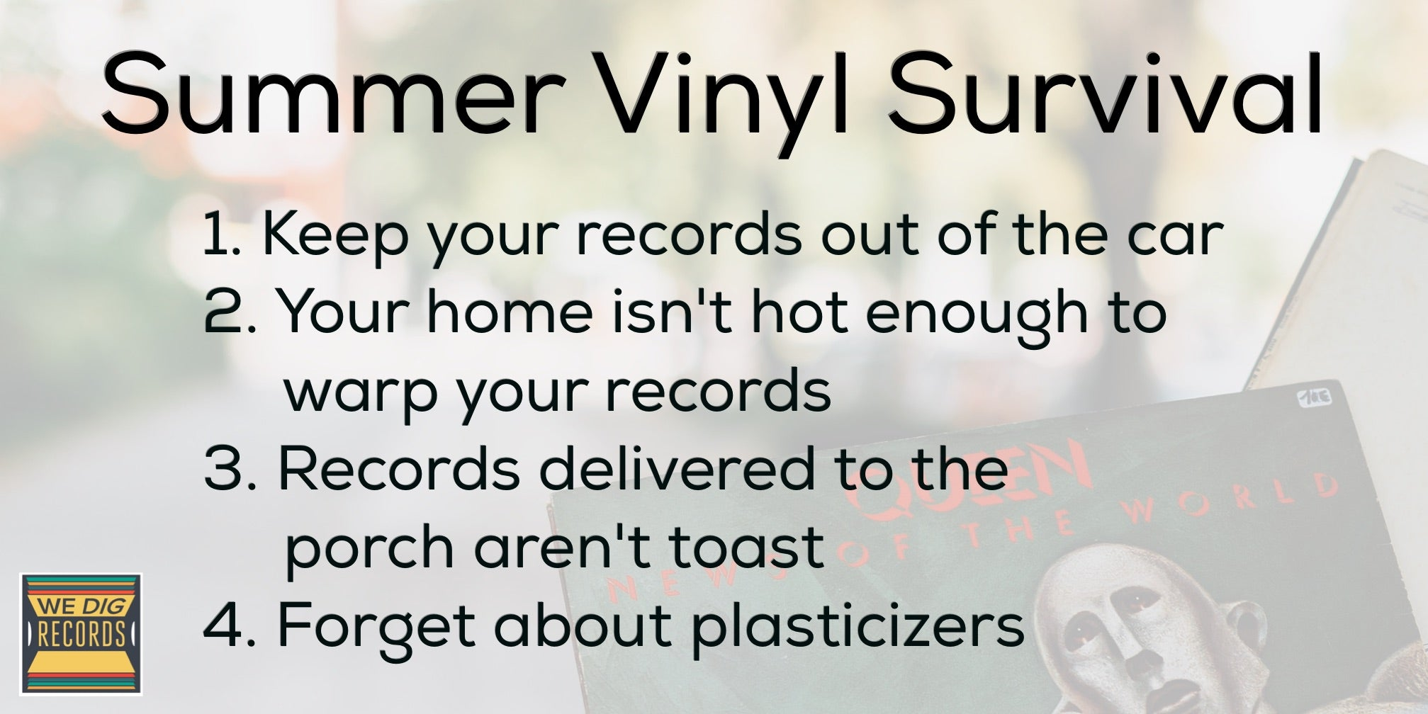 Summer Vinyl Survival Guide