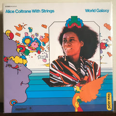 Alice Coltrane With Strings World Galaxy on vinyl (Front Cover)