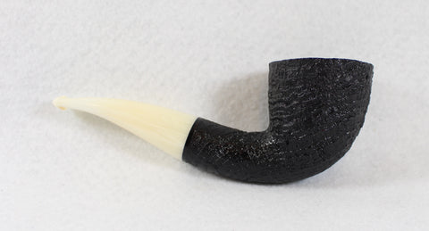 BriarWorks Original Bent Dublin Black Blast with White Stem