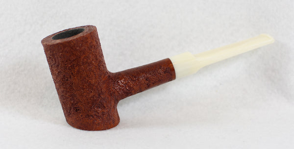 BriarWorks Classic Poker Brown Blast with White Stem
