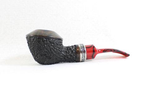 J Ronish Rusticated Rhodesian Unsmoked Estate Pipe