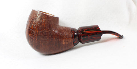 Paul's Pipes Reverse Calabash with Cumberland Stem Unsmoked Estate Pipe