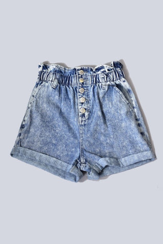Emmy Shorts ~ Acid Wash - Amber Moon