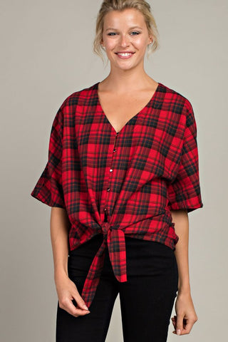 Hixson Plaid Top - Amber Moon