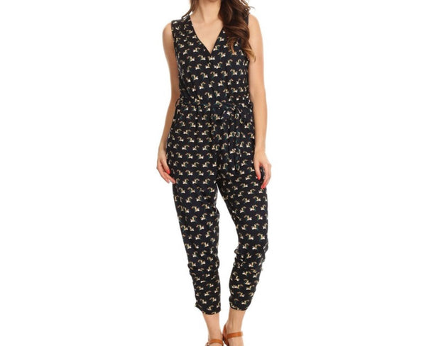Christina Printed Jumpsuit - Amber Moon