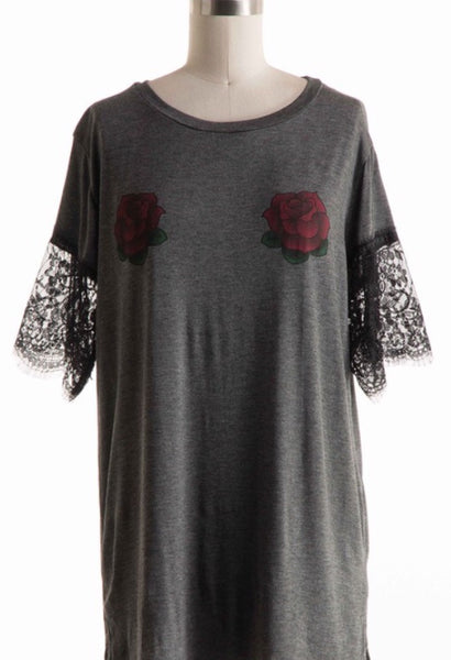 Pair of Roses Top - Amber Moon