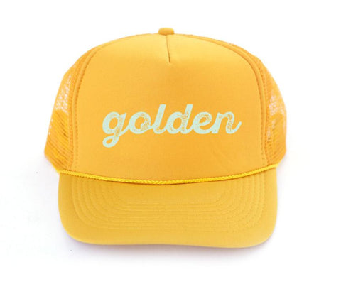 The Golden Trucker Hat - Amber Moon